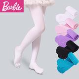 芭比儿童连裤袜春秋夏白色长筒女童连裤袜宝宝袜子薄款丝袜舞蹈袜