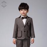 EYAS男童西装套装儿童小西装外套韩版童装中大童西服花童礼服冬季