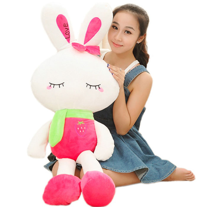 可爱小兔公仔毛绒玩具大号love兔水果兔布娃娃送女生