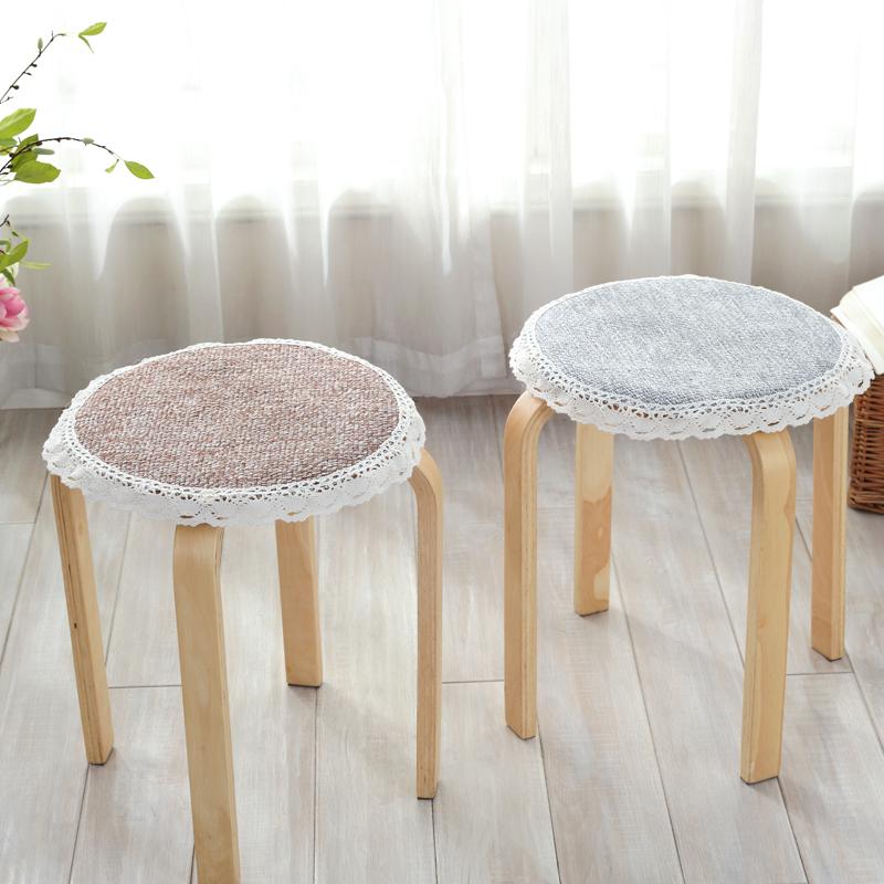 定做加厚防滑圆凳椅子垫冬季圆形坐垫圆凳防滑坐垫餐椅垫圆凳子套图片
