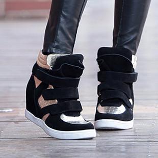 莫蕾蔻蕾 2014秋冬新款休闲高帮鞋女鞋运动内增高女单鞋子 8381 1