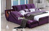 布艺床布床1.8米双人床1.5米简约现代储物婚床可拆洗榻榻米软床