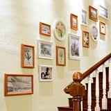 欧式宜家楼梯走廊相框挂墙 墙壁相片墙展示背景墙装饰画框壁挂