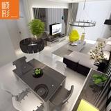 简约现代布艺沙发茶几电视柜组合餐桌北欧小户型客厅成套家具套装