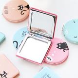 优湃●迷你小巧随身镜卡通可爱创意旅行便携化妆双面小镜子折叠
