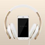 苹果耳机头戴式 iphone4 5s 6电脑笔记本手机耳机耳麦重低音