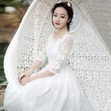 2016夏季新品女装白色蕾丝连衣裙长裙波西米亚沙滩裙海边度假裙子