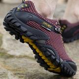 夏季休闲鞋子镂空面透气网布鞋网眼户外登山运动网鞋男士潮鞋徒步