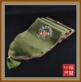 设计师原创中式桌旗简约现代茶几布艺高档刺绣花长条桌布装饰盖布