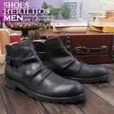 韩版潮流真皮男靴高帮靴 欧美英伦短靴男马丁靴时尚皮靴切尔西靴