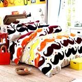 冬季保暖床上用品加厚法莱绒四件套卡通珊瑚绒4件套法兰绒被套