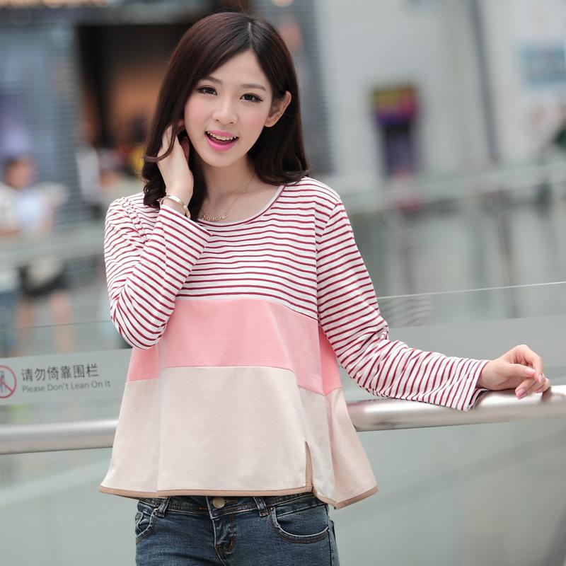 2014森马秋装新款韩版少女装t恤秋款学生长袖t桖小衫