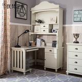 优梵艺术UvanTeen美式全实木转角书桌写字台书房电脑桌子卧室家具