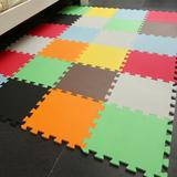 包邮EVA环保泡沫垫小号拼接纯色素面地板垫婴儿爬行防滑地垫30X30
