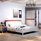 聚双虎家私 智能家具套餐组合板木结合床床头柜床垫卧室三件套ZN1