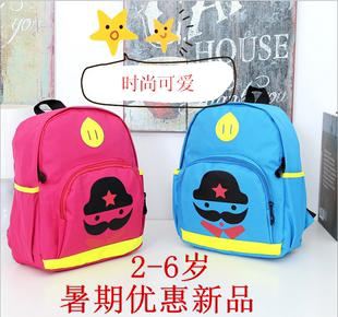 韩版可爱幼儿园宝宝帆布小书包2-3-4-5-6岁男女儿童双肩外