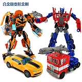 变形玩具金刚4 合金版擎天柱大黄蜂汽车人机器人模型男孩玩具礼物