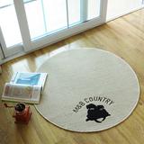 圆形地垫电脑毯椅垫吊篮垫转椅垫浅咖啡色梳妆台地毯可水洗薄地毯