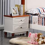 【天天特价】地中海床头柜美式乡村储物柜实木床头柜田园床头柜