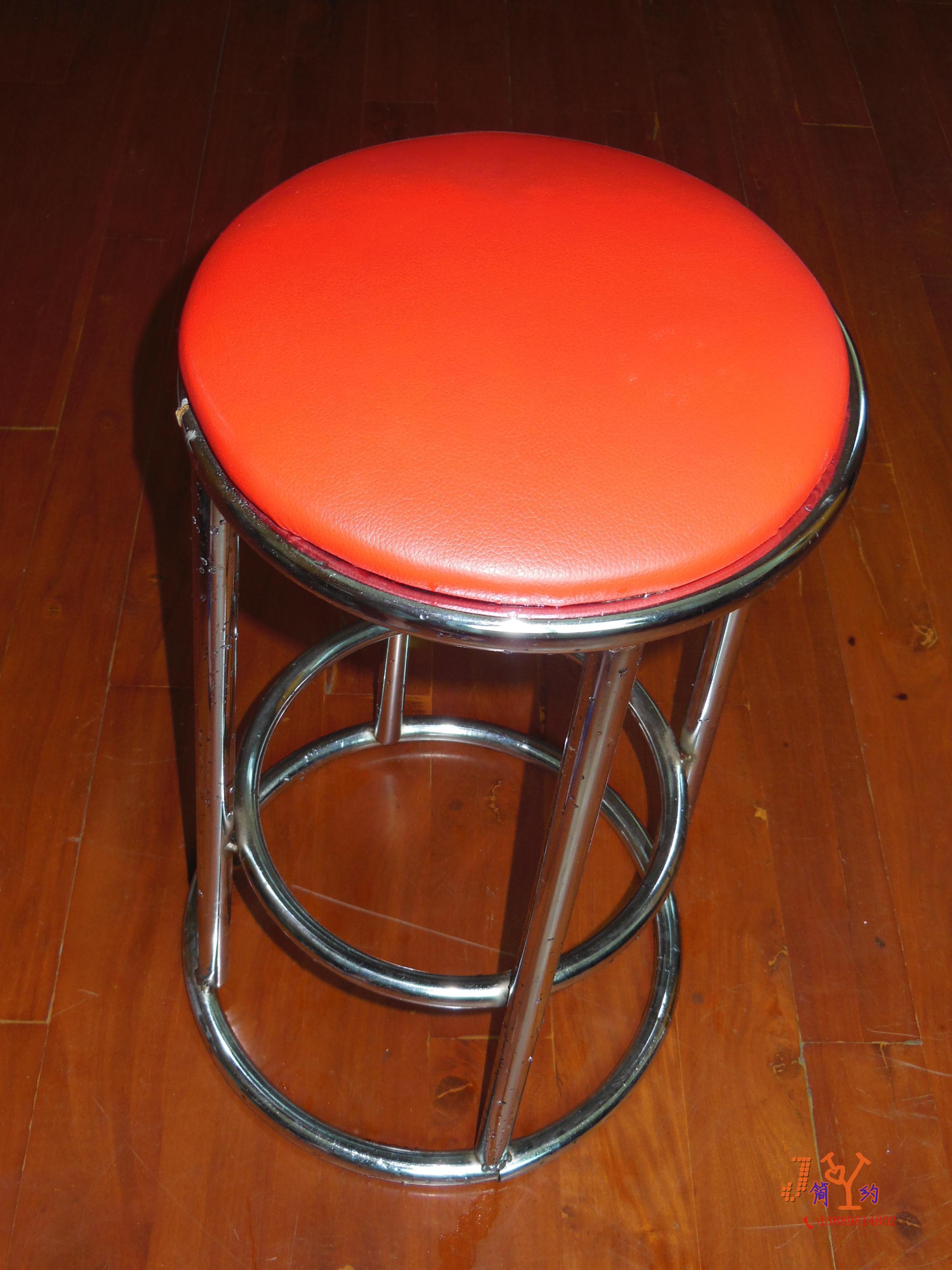 ktv酒吧三圈吧台椅 高脚凳子 圆面柜台凳 不锈钢凳子特价直销图片