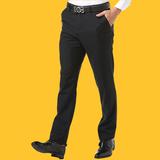 西裤男士春夏季薄款免烫修身商务休闲青年西装正装直筒裤长裤子男