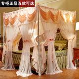 欧式双层蚊帐不锈钢落地加粗厚密方顶三开门宫廷公主1.5m1.8米床
