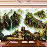 电视背景墙纸壁画欧式油画长城3D大型田园山水风景无纺布壁纸打印
