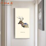 北欧麋鹿简约壁画现代客厅挂画创意简约玄关过道走廊竖版装饰画