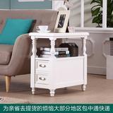 美式简约客厅边几边柜 带抽小茶几沙发桌欧式角几边桌实木电话桌