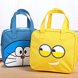 韩版可爱卡通小黄人萌物防水牛津布饭盒袋手提便当包带饭午餐包