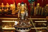藏传密宗佛教用品 尼泊尔精品一尺佛像释迦摩尼 纯紫铜鎏银
