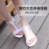 塑料果冻鞋厚底罗马凉鞋女夏天鞋子平底学生韩国melissa女鞋潮版