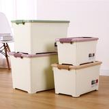 收纳箱塑料特大号加厚储物箱衣服玩具整理箱带轮周转箱衣物收纳盒