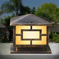 欧式墙头灯 柱头灯围墙灯方形户外灯大门柱子庭院花园灯具