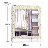 好脉简易衣柜折叠布艺牛津布钢管加粗加固钢架组合布衣柜收纳柜