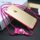 iPhone6plus手机壳挂脖4s iPhone5s保护硅胶套带挂绳 苹果6软外壳