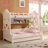 韩式儿童床上下床铺高低床母子床子母床成人实木双层床1.2/1.5米