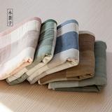【木苍子】日式出口纯棉毛巾 纱布无捻纱面巾 洁面巾 成人洗脸巾