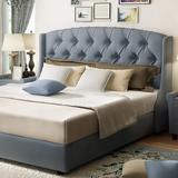 雅林 布艺床现代简约 美式软包床 1.8米北欧双人床家具婚床