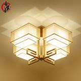 新中式吸顶灯现代客厅灯简约大气创意书房卧室LED灯饰正方形灯具