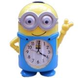 儿童卡通可爱创意小黄人静音会唱歌学生小闹钟表台钟包邮