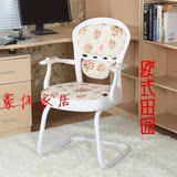 特价欧式田园风格电脑椅办公室转椅学生职员家用白色小姐书桌凳