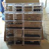 超大号抽屉式护多层整理盒桌面组合韩式特大化妆品收纳盒透明5层
