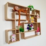 墙壁置物架现代简约客厅装饰创意墙上格子壁挂木质隔板墙面置物架