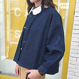2016春秋季女装学生学院bf风短款外套百搭宽松显瘦长袖上衣韩版潮