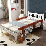 实木床松木儿童床小床男孩女孩婴儿床单人床护栏床拼床1.2米定制