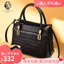 Elderly head leather crocodile pattern handbag bag female 2019 New simple high-capacity temperament shoulder mother bag female
