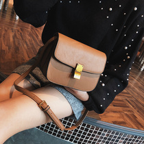 Chic small Bag 2018 new female packets shoulder bag retro lock small square bag Korean version hundred crossbody Bag female tide