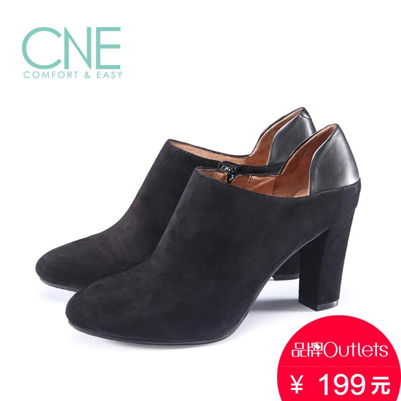 CNE 秋冬女靴高跟脚踝靴尖头潮流短靴6T95901