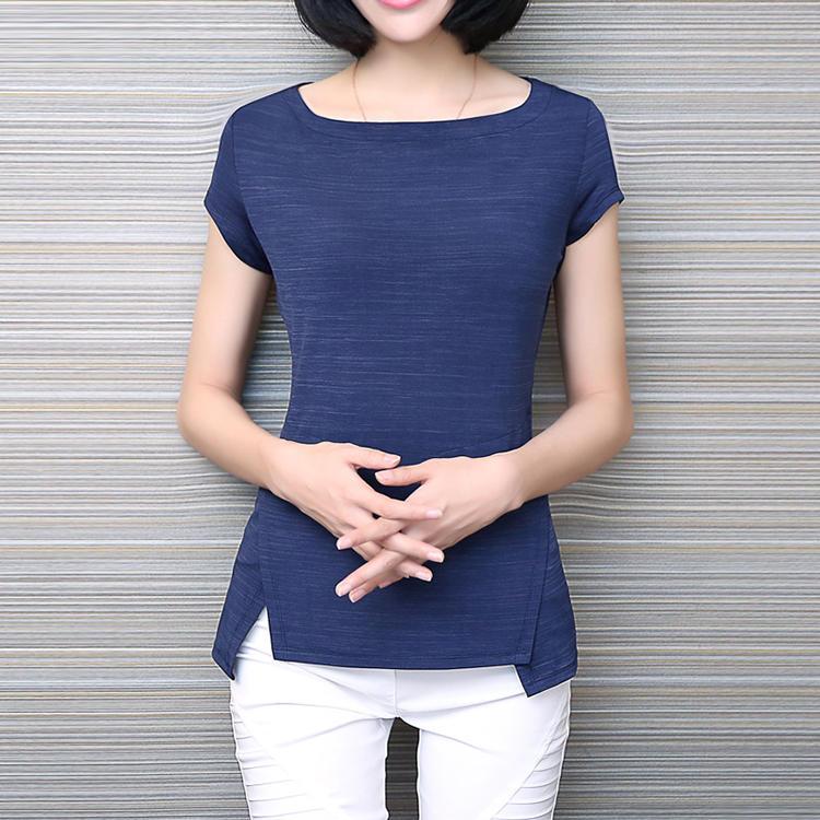 一字领上衣夏t恤紧身短袖女士韩版打底衫显瘦短款体恤女韩国简约